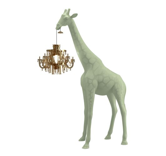 Qeeboo Giraffe in Love XS lamp - Warm Sand Tafellampen
