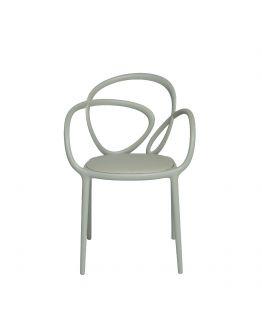 Qeeboo Loop Chair met kussen, set van 2 stuks - Grey