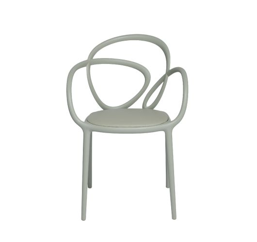 Qeeboo Loop Chair met kussen, set van 2 stuks - Grey Overigen