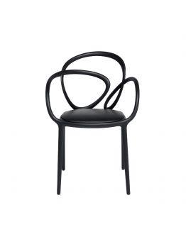 Qeeboo Loop Chair met kussen, set van 2 stuks - Zwart