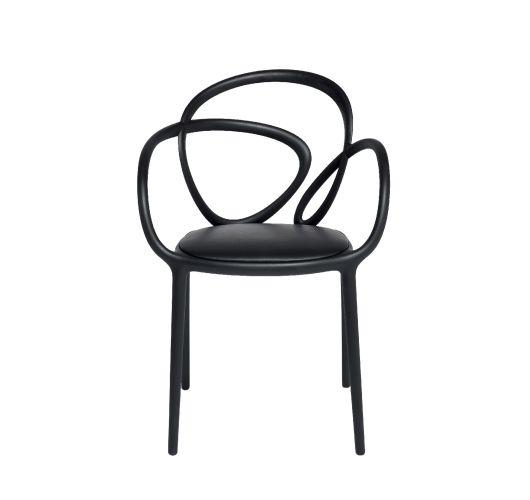 Qeeboo Loop Chair met kussen, set van 2 stuks - Zwart Accessoires