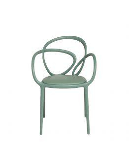Qeeboo Loop Chair met kussen, set van 2 stuks - Groen