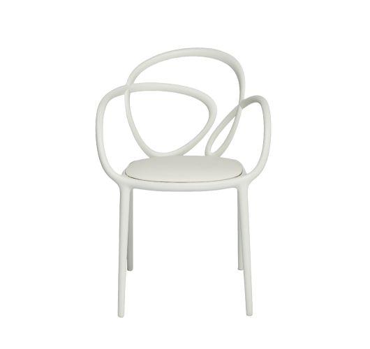 Qeeboo Loop Chair met kussen, set van 2 stuks - Wit