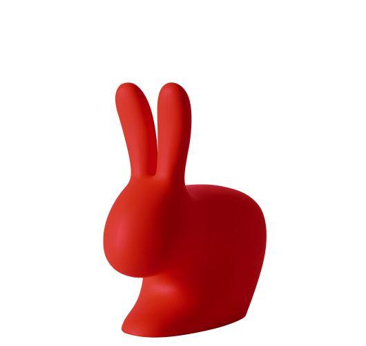 Qeeboo Rabbit Chair Baby Red Overigen