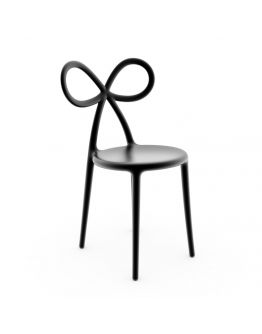 Qeeboo Ribbon Chair Black Single