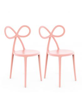Qeeboo Ribbon Chair Pink Set van 2 stuks