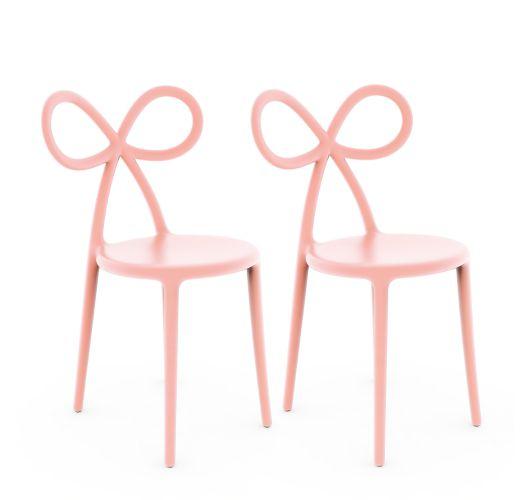 Qeeboo Ribbon Chair Pink Set van 2 stuks Overigen