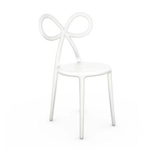 Qeeboo Ribbon Chair White Single