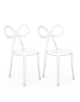 Qeeboo Ribbon Chair White Set van 2 stuks