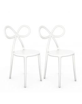 Qeeboo Ribbon Chair White Set van 2 stuks