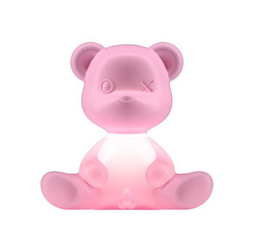Qeeboo Teddy Boy lamp indoor plug - Bright Pink Tafellampen