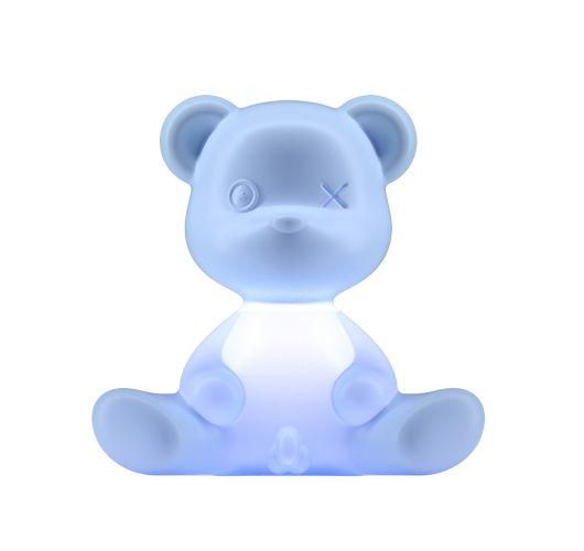 Qeeboo Teddy Boy lamp indoor plug - Light Blue Tafellampen