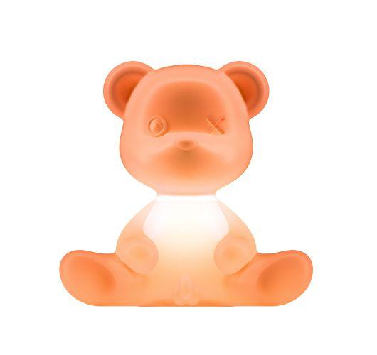 Qeeboo Teddy Boy lamp indoor plug - Orange Tafellampen