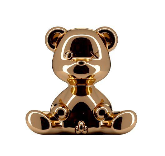 Qeeboo Teddy Boy Metal lamp indoor plug - Copper Tafellampen