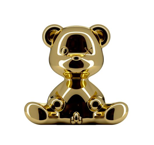 Qeeboo Teddy Boy Metal lamp indoor plug - Gold Overigen