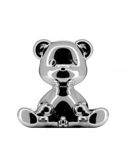 Qeeboo Teddy Boy Metal lamp indoor plug - Silver