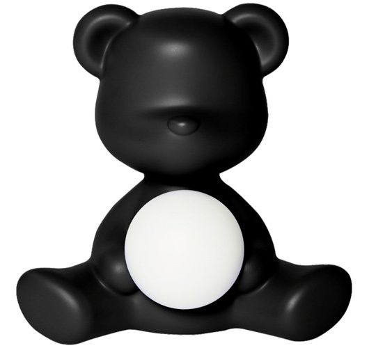 Qeeboo Teddy Girl LED lamp - Black Tafellampen