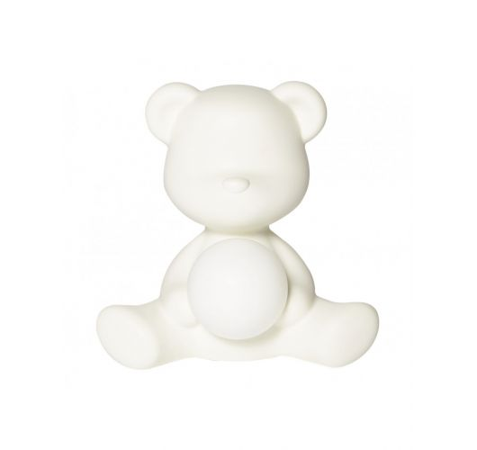 Qeeboo Teddy Girl LED lamp - White Tafellampen