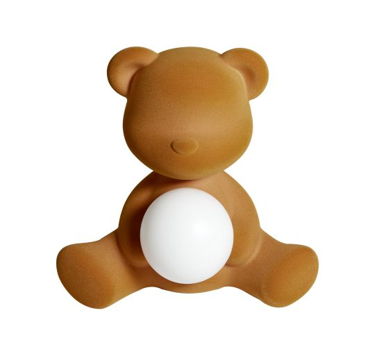 Qeeboo Teddy Girl Velvet LED lamp - Arena Tafellampen