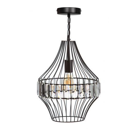 ETH Hanglamp Sparkle 31cm Matt Coffee / Helder Glas Plafondlamp