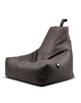 Extreme Lounging B-Bag Mighty-B Indoor Lederlook Slate