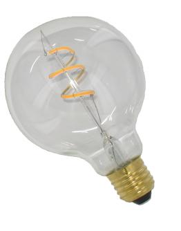 Curved Filament LED 125mm 4W Dimbaar Helder