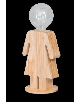 Eva Tafellamp Hout (max 60w)