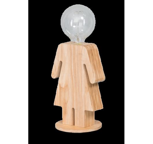 Eva Tafellamp Hout (max 60w) Tafellampen