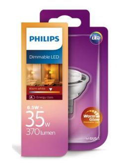 Philips Master LEDspot Warm Glow led lamp GU5.3 6.5W (35W) Dimbaar