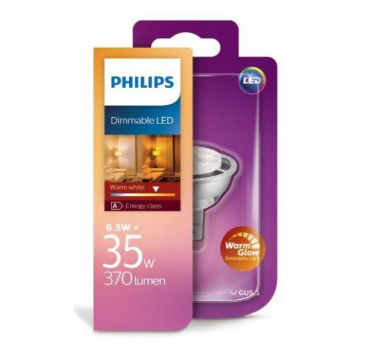 Philips Master LEDspot Warm Glow led lamp GU5.3 6.5W (35W) Dimbaar Ledlampen