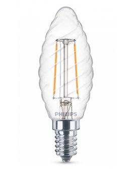 Philips LED Kaarslamp Gedraaid 2W (=25W) Helder