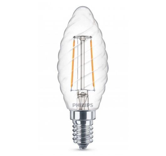 Philips LED Kaarslamp Gedraaid 2W (=25W) Helder LED-lampen