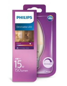 Philips LED Kaars 4W(=15W) E14 Flame | Dimbaar