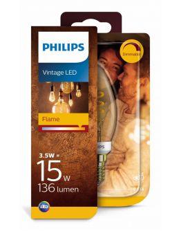 Philips LED Vintage Kaarslamp 3.5W (=15W) E14 | Goud