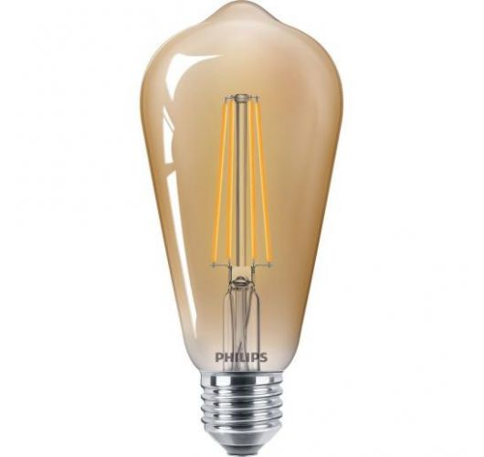 Philips Classic LED bulb 8W E27 Edison Goud | Dimbaar - Vervangt 50W LED-lampen