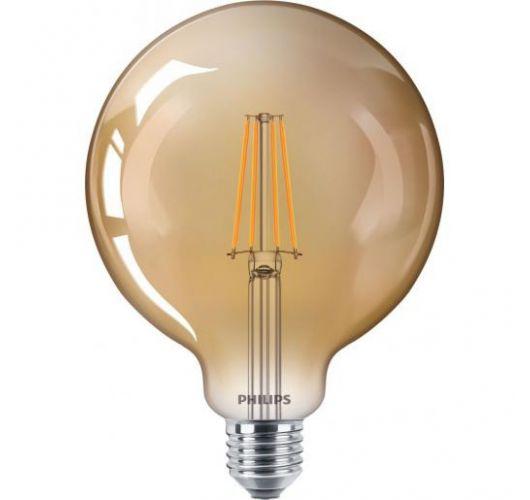 Philips Classic LED globe 8W E27 Goud   Dimbaar - Vervangt 50W Ledlampen