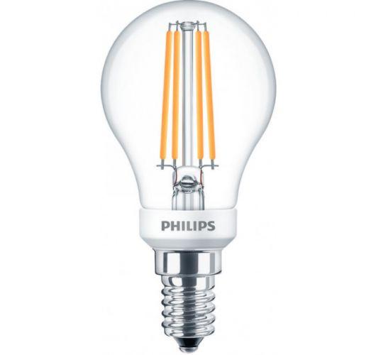 Philips led kogel E14 5w/40w helder dimbaar 2200k 350lumen  Ledlampen