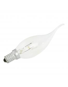 Kaarslamp met Gebogen Punt E14 15W 230v Helder
