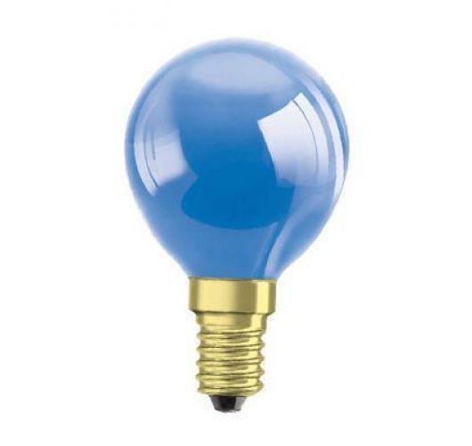 Kogellamp E14 15w 230v Blauw