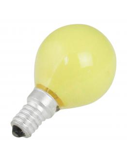 Kogellamp E14 15w 230v Geel