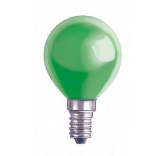 Kogellamp E14 15w 230v Groen