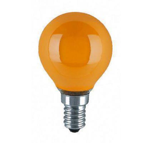 Kogellamp E14 15w 230v Oranje