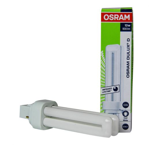 Osram Dulux D 13W 840 | Koel Wit - 2-Pin Spaarlamp