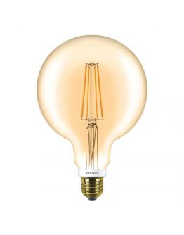 Philips LED Classic globe E27 G120 7W 820 Goud | Dimbaar - Vervangt 50W