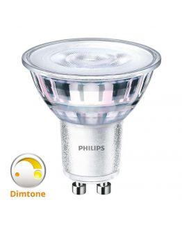 Philips Classic LEDspot MV GU10 Value 4.5W 2200K - 2700K 36D (MASTER) | DimTone Dimbaar - Vervangt 35W