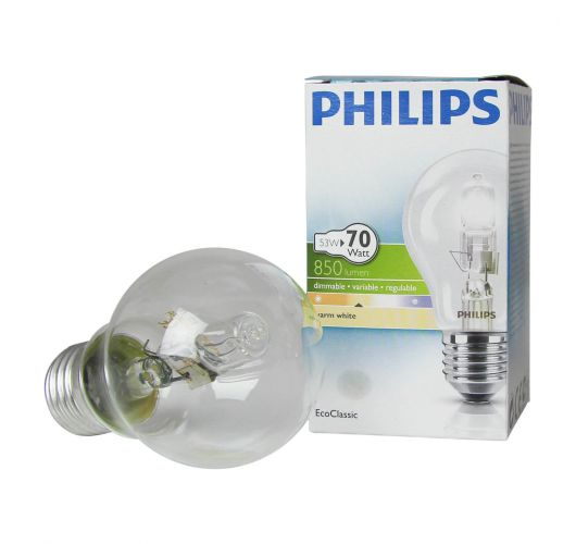 Philips EcoClassic 53W E27 230V A55 Clear Gloeilampen