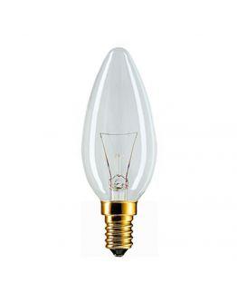 Philips Gloeilamp kaarslamp 40W E14 230V B35 helder