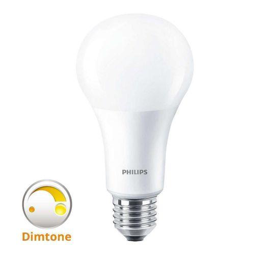 Philips LEDbulb E27 A67 15W 827 Mat (MASTER) | DimTone Dimbaar - Vervangt 100W