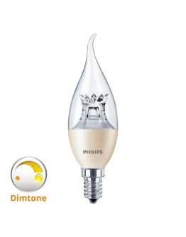 Philips LEDcandle E14 BA38 6W 827 (MASTER) | DimTone Dimbaar - Vervangt 40W