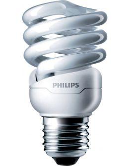 Philips Tornado T2 Spiral 12W 827 E27 | Zeer Warm Wit
